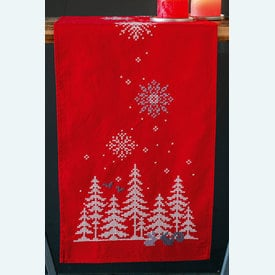 Christmas Trees and Forest Animals loper - voorgedrukt borduurpakket - Vervaco |  | Artikelnummer: vvc-171573