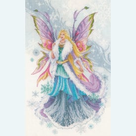 Winter Elf Fairy - borduurpakket met telpatroon Lanarte |  | Artikelnummer: ln-178653