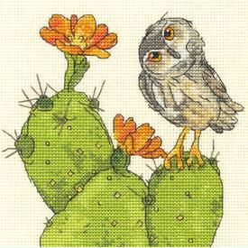 Prickly Owl - borduurpakket met telpatroon Dimensions |  | Artikelnummer: dim-70-65184