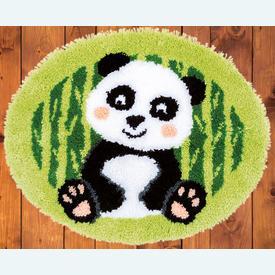 Panda - knooptapijt Vervaco | Smyrna tapijt met pandabeertje | Artikelnummer: vvc-171823