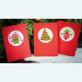 Wenskaarten Christmas Cards - borduurpakketten met telpatroon Vervaco |  | Artikelnummer: vvc-145622