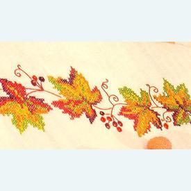Autumn Leaves - lange loper - voorgedrukt borduurpakket - Vervaco |  | Artikelnummer: vvc-12998