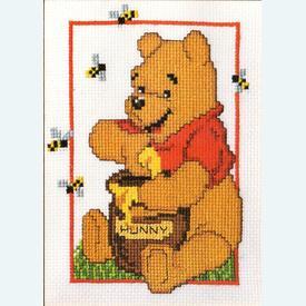 Winnie the Pooh - Disney borduurpakket met telpatroon Vervaco |  | Artikelnummer: vvc-19014