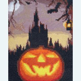 Halloween Night - Borduurpakket met telpatroon Orcraphics      Artikelnummer: orc-2015-06-16