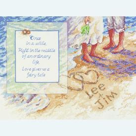 Beach Romance - borduurpakket met telpatroon Janlynn |  | Artikelnummer: jl-023.0582