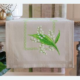 Lily of the Valley loper - voorgedrukt borduurpakket - Vervaco |  | Artikelnummer: vvc-178518