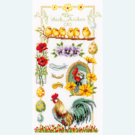 About Chickens - borduurpakket met telpatroon Vervaco |  | Artikelnummer: vvc-150962