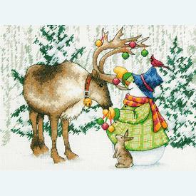 Ornamental Reindeer  - borduurpakket met telpatroon Dimensions |  | Artikelnummer: dim-70-08947