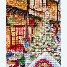 Christmas Eve - borduurpakket met telpatroon Letistitch |  | Artikelnummer: leti-909