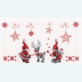 Christmas Elves - kruissteekpakket met telpatroon Vervaco |  | Artikelnummer: vvc-154476