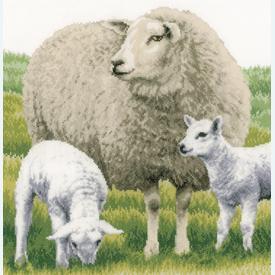 Sheep - handwerkpakket met telpatroon Lanarte |  | Artikelnummer: ln-170416