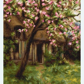 Spring Landscape - borduurpakket met telpatroon Luca-S |  | Artikelnummer: luca-b545