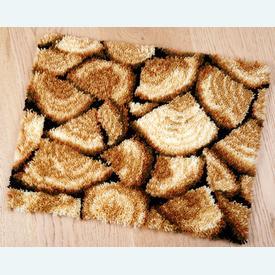 Wooden Blocks - knooptapijt Vervaco | Smyrna tapijt met gekapte houtblokken | Artikelnummer: vvc-157818
