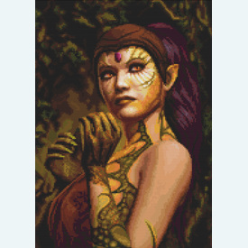 Dragon Lady - Borduurpakket met telpatroon Orcraphics |  | Artikelnummer: orc-2016-09-02