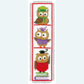 Set van 2 bladwijzers - Clever Owls - Handwerkpakketten met telpatroon Vervaco |  | Artikelnummer: vvc-147887