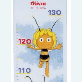 Growing Chart: Maya the Bee - borduurpakket met telpatroon Vervaco | Groeimeter Maya de Bij | Artikelnummer: vvc-148477