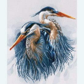 Great Blue Herons - Lanarte borduurpakket met telpatroon | Secret Stitch Along 2020-1 | Artikelnummer: ln-185890