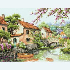 Village Canal - borduurpakket met telpatroon Dimensions |  | Artikelnummer: dim-70-35330