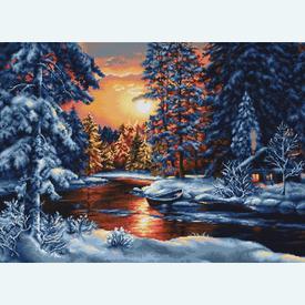 Winter Landscape - borduurpakket met telpatroon Luca-S  |  | Artikelnummer: luca-b477