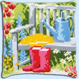 My Garden - Vervaco Kruissteekkussen |  | Artikelnummer: vvc-162218