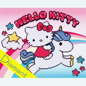 Hello Kitty and Unicorn - Diamond Painting pakket - Vervaco |  | Artikelnummer: vvc-173568