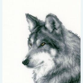 Wolf - kruissteekpakket met telpatroon Vervaco |  | Artikelnummer: vvc-149789