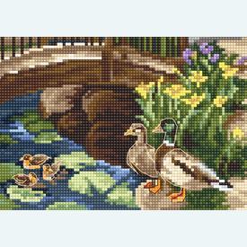 Spring Blooms on the Lake - borduurpakket met telpatroon Luca-S       Artikelnummer: luca-b2379