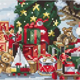 Santa's Express - borduurpakket met telpatroon Luca-S      Artikelnummer: luca-b2397