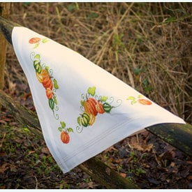 Pumpkins theenap - voorgedrukt borduurpakket - Vervaco |  | Artikelnummer: vvc-13416