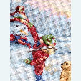 Merry Christmas Stocking - borduurpakket met telpatroon Luca-S      Artikelnummer: luca-PM1241