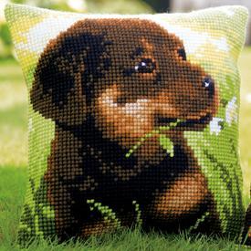 Rottweiler Puppy - Vervaco Kruissteekkussen |  | Artikelnummer: vvc-150689