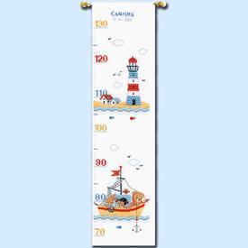 Growing Chart: Boat Sailing - borduurpakket met telpatroon Vervaco | Groeimeter  | Artikelnummer: vvc-169272