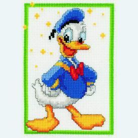 Donald Duck - Disney borduurpakket met telpatroon Vervaco |  | Artikelnummer: vvc-19105