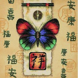 Oriental Butterfly - borduurpakket met telpatroon Dimensions |  | Artikelnummer: dim-35034