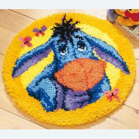 Eeyore - Disney - knooptapijt Vervaco | Smyrna tapijt met Eeyore van Winnie the Pooh - Disney | Artikelnummer: vvc-14706