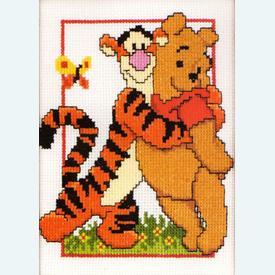 Pooh and Tigger - Disney borduurpakket met telpatroon Vervaco |  | Artikelnummer: vvc-19044