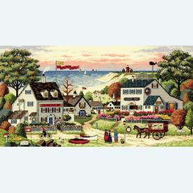 Cozy Cove - borduurpakket met telpatroon Dimensions |  | Artikelnummer: dim-3896