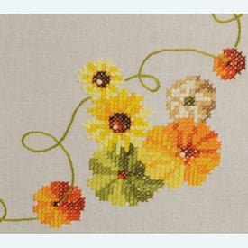 Sunflowers and Pumpkins loper - voorgedrukt borduurpakket - Vervaco |  | Artikelnummer: vvc-162453