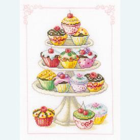 Cupcakes - Handwerkpakket met telpatroon Vervaco |  | Artikelnummer: vvc-11909