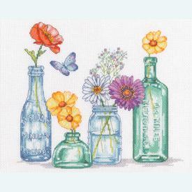 Wildflower Jars - borduurpakket met telpatroon Dimensions |  | Artikelnummer: dim-70-35397