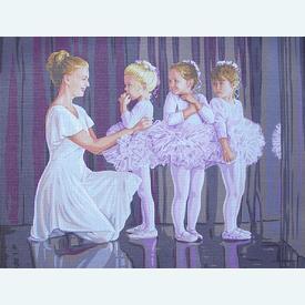 First Recital - bundel van geschilderd stramien + borduurwol, te borduren in halve kruissteek |  | Artikelnummer: rp-142-534-bundel