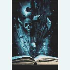 Book of Halloween - Borduurpakket met telpatroon Orcraphics      Artikelnummer: orc-2015-02-29