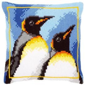 King Penguins - Vervaco Kruissteekkussen |  | Artikelnummer: vvc-147725