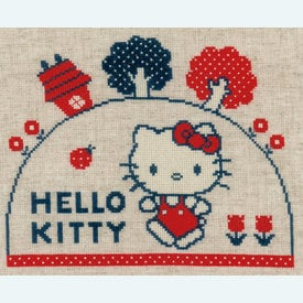 Hello Kitty - Going for a Walk - kruissteekpakket met telpatroon Vervaco |  | Artikelnummer: vvc-153763