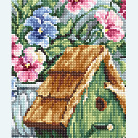 Garden Nesting - borduurpakket met telpatroon Luca-S |  | Artikelnummer: luca-b2396