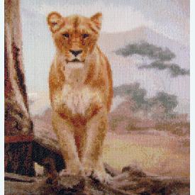 Lion Life - Borduurpakket met telpatroon Orcraphics |  | Artikelnummer: orc-2013-02-11