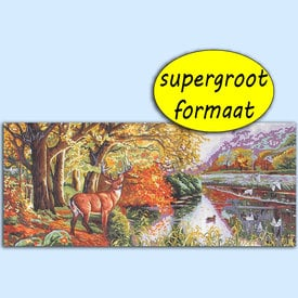 Soaring - bundel van geschilderd stramien + borduurwol, te borduren in halve kruissteek |  | Artikelnummer: rp-163-081-bundel