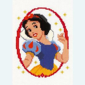 Snow White - Disney borduurpakket met telpatroon Vervaco |  | Artikelnummer: vvc-19030