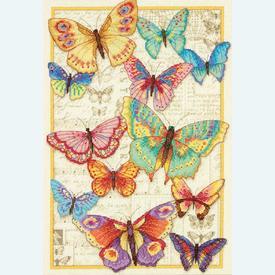 Butterfly Beauty - borduurpakket met telpatroon Dimensions |  | Artikelnummer: dim-70-35338