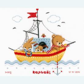 Boat Sailing - borduurpakket met telpatroon Vervaco |  | Artikelnummer: vvc-168466